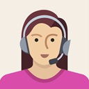 Avatar, woman, support, user, person, Female, Headset Linen icon