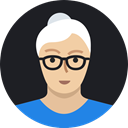 woman, grandmother, mature, Avatar, user, old, person Black icon