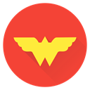 saver, Girl, hero, wonder, superhero, Super, woman Tomato icon