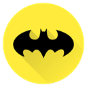 Man, bat, Batman, hero, superhero, Super, saver Gold icon