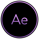 App, movie, Aftereffects, adobe, viedo, film, editing Black icon