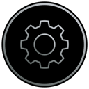 Gear, settings, preferences, Control, Options, tools, system preferences Black icon