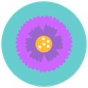 Aroma, Flower, flowers, blossom, nature, marigold MediumTurquoise icon