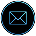 Letter, Email, mail, envelope, web, App, Mailbox Black icon