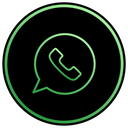 Mobile, Text, Whatsapp, phone, Message, Chat, App Black icon