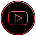 film, media, music, Social, App, youtube, video Black icon