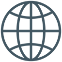 earth, global, internet, planet, world, network, globe DarkSlateGray icon