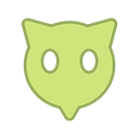 virus, bot, round, points, green, Eyes, Android Khaki icon