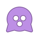 purple, Android, Curious, virus, bot, round, mine Plum icon