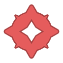 round, red, bot, fly, Sweeper, Android, Angry IndianRed icon