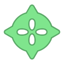 green, points, droid, virus, round, Android, bot LightGreen icon