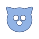 Mag, Blue, virus, Cat, round, bot, Android SkyBlue icon