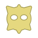 yellow, bot, Android, round, virus, Eyes, Hexagon Khaki icon