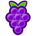 food, Grapes, Eating, healthy, Berries Black icon