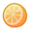 juicy, tropical, Orange, Citrus, fresh Black icon