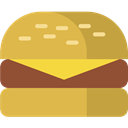 hamburger, mcdonalds, Burger, cheeseburger, meal, Fastfood SandyBrown icon
