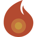 Flame, fire, Candle, hot, light Sienna icon