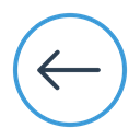 prev, Arrow left, Circle, previous, Move, west, Direction Black icon