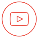 Social, video, line, media, neon, youtube, movie Black icon