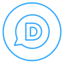 Comments, Discuss, Social, Disqus, Circles, line, neon Black icon