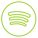 music, line, Spotify, Circles, neon, Social Black icon