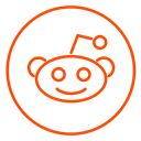 neon, chart, line, Business, Reddit, network, Social Black icon