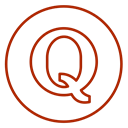 Circles, Quora, line, q&a, opinion, Social, neon Black icon