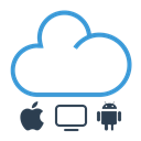 sharing, Cloud, shared, work online Black icon