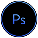 photo, adobe, editing, Art, photoshop, graphics Black icon