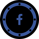 Circle, media, Page, network, internet, fb, btn Black icon