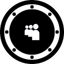 btn, rounded, Social, music, network, Myspace, Circle Black icon