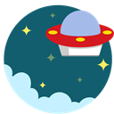 martian, Alien, Ufo, out of space, space Teal icon
