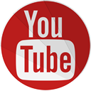 Social, youtube, tube, modern, you, Google video, modern media Firebrick icon
