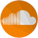 modern, Soundcloud, modern media, Cloud, sound DarkOrange icon