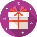 Box, gift, birthday, package MediumVioletRed icon