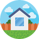 house, Building, Estate, Home, real SkyBlue icon