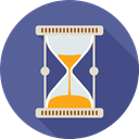 Hourglass, Clock, loading, time, watch DarkSlateBlue icon