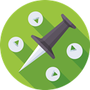 pin, navigation, Pointer, marker OliveDrab icon