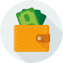 Money, dollars, Finance, purse, pay WhiteSmoke icon