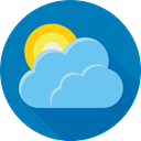 forecast, Cloud, sun, weather DarkCyan icon