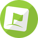 flag, media, Social, zorpia, App YellowGreen icon