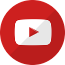 Multimedia, video, youtube, play, media Firebrick icon