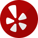 Social, media, network, Message, Yelp, Communication DarkRed icon