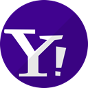 network, mail, Chat, media, Social, Messenger, yahoo Indigo icon