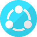 shareit, Communication, share this, share, this Turquoise icon