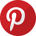network, pinter, media, Social, pinterest, Communication Firebrick icon