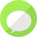 Message, Chat, messages, ios, talk GreenYellow icon