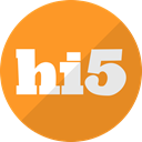 five, Hi5, Hi 5, media, hi, Social Goldenrod icon
