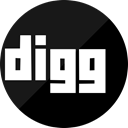 dig, network, Social, media, Digg Black icon