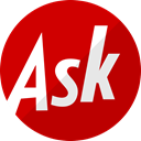 Service, search, Ask, help, question Red icon